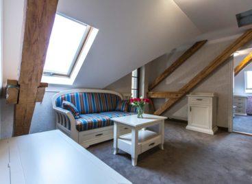 2 hálószobás lakosztály terasszal – tetőtér